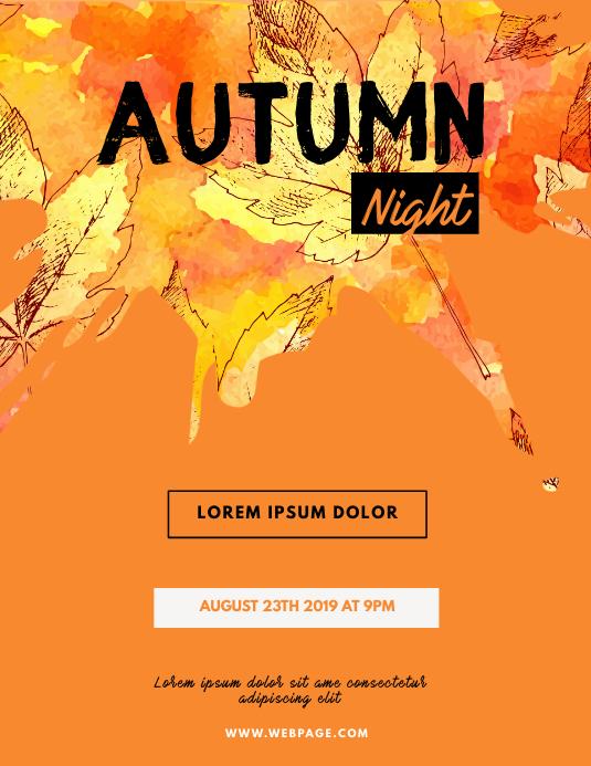 Autumn Night Flyer Template