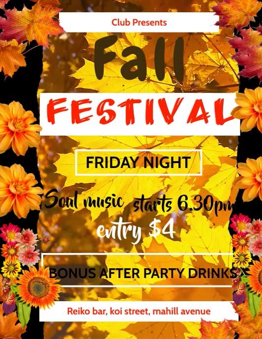 autumn/oktoberfest ใบปลิว (US Letter) template