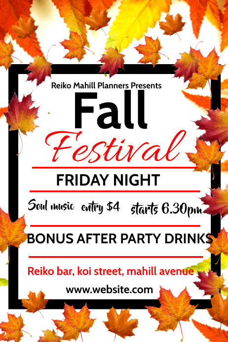 autumn/oktoberfest Poster template