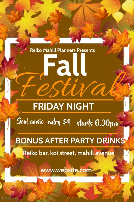 autumn/oktoberfest Плакат template