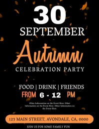 Autumn Party Celebration Event Flyer Template