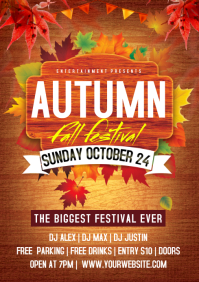 autumn party A4 template