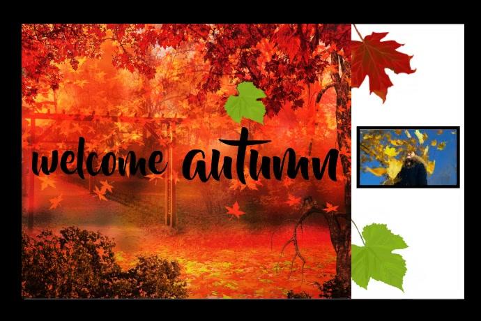 Autumn Photo Frame Plakat template