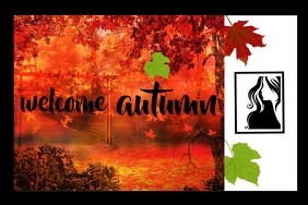 Autumn Photo Frame Poster template