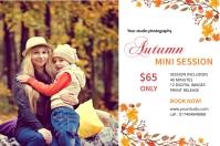 Autumn Photography Mini Session Label template