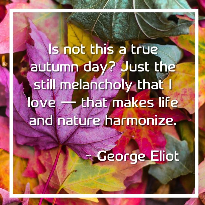Autumn Quote Albumcover template