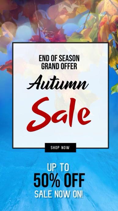 Autumn Retail Digital Display Video