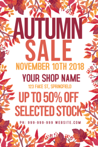Autumn Retail Poster