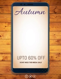 Autumn sale, Fall festival Volante (Carta US) template