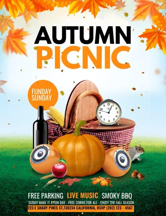 Autumn sale, Fall festival Folder (US Letter) template