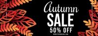 Autumn sale, fall sale instagram post Facebook-omslagfoto template