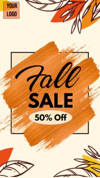 autumn sale, fall sale instagram story template