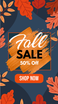 autumn sale, fall sale instagram story Instagram-verhaal template