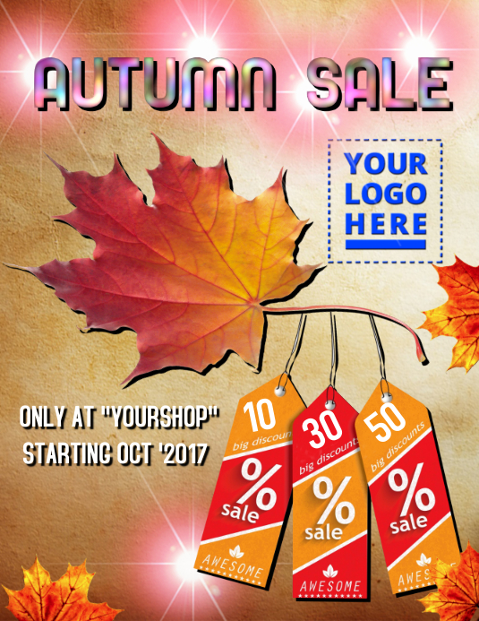 Autumn Sale 2017 Flyer (format US Letter) template