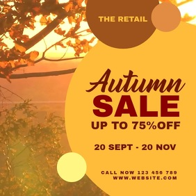 Autumn Sale Banner Vierkant (1:1) template