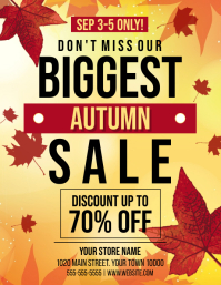 AUTUMN SALE Volante (Carta US) template
