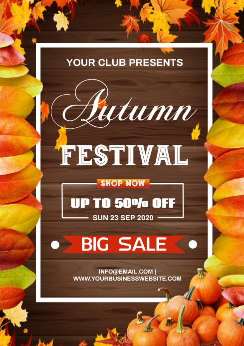 autumn sale A4 template