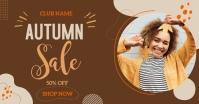 autumn sale Facebook-advertentie template