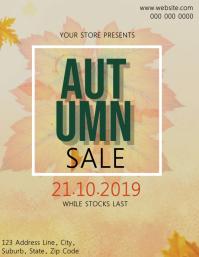 Autumn Sale Event Flyer Template