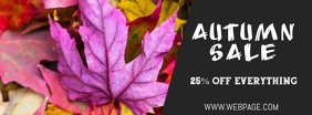 Autumn sale facebook cover template