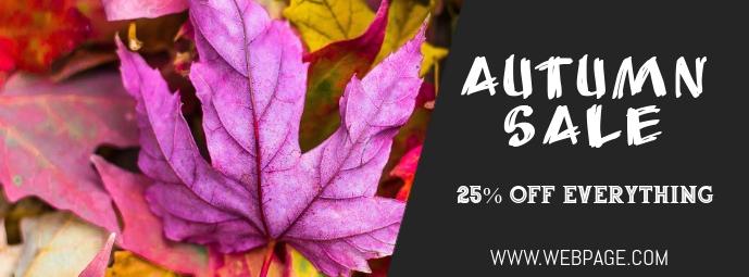 Autumn sale facebook cover template
