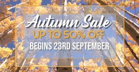 Autumn Sale Facebook page header