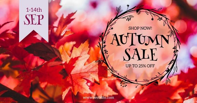 Autumn Sale Facebook Shared Image template