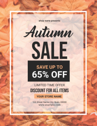 Autumn Sale Flyer Volante (Carta US) template