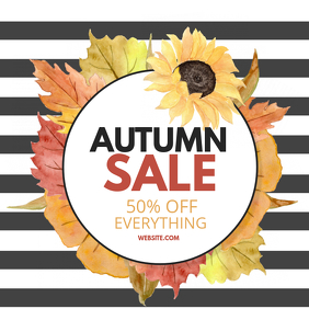 Autumn sale Capa de álbum template