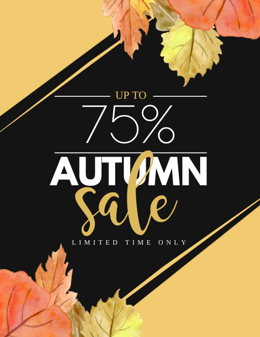 Autumn sale Folheto (US Letter) template