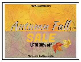 Autumn sale flyer/template