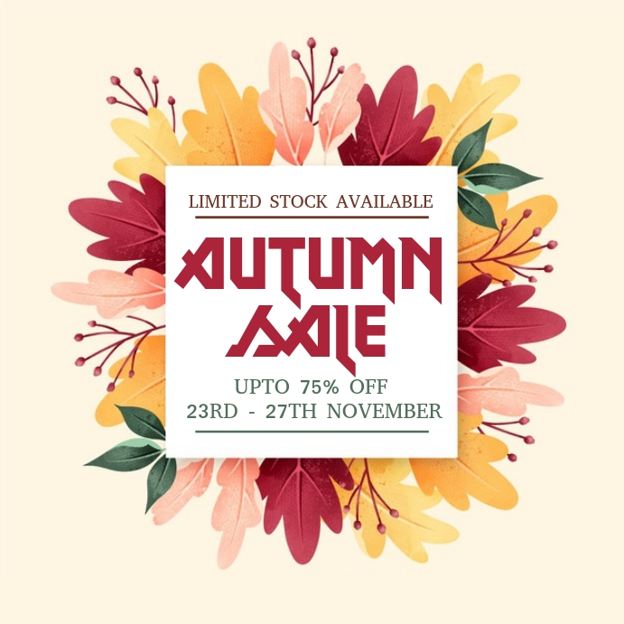 Autumn Sale Flyers Pos Instagram template