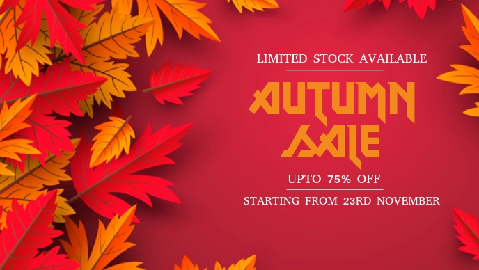 Autumn Sale Flyers Facebook-omslagvideo (16: 9) template