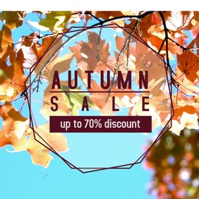Autumn sale instagram
