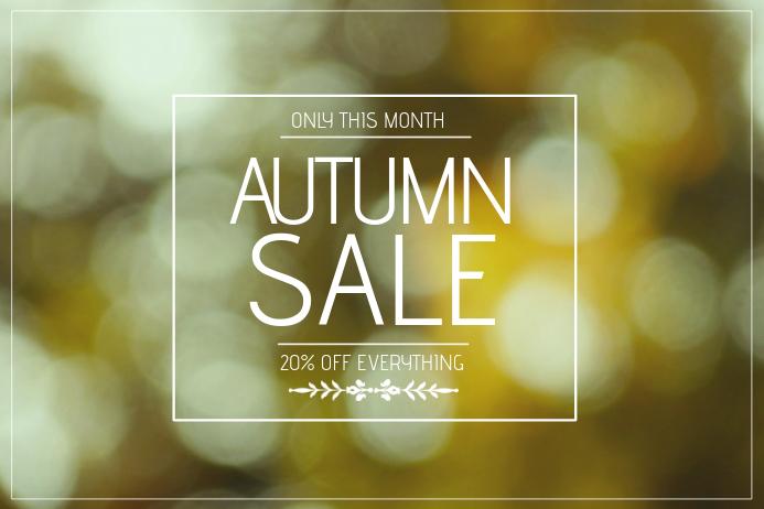 autumn sale landscape flyer template