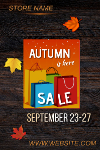 Autumn Sale Poster Cartaz template