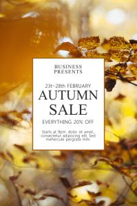 Autumn sale Flyer Template