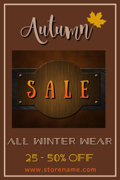 Autumn Sale Poster Template Affiche