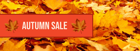 Autumn Sale Facebook 封面图片 template