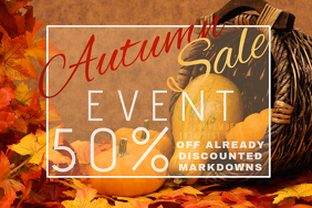 Autumn Sale Retail Cornucopia Harvest Discount Coupon Promo