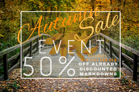 Autumn Sale Retail Fall Leaves Harvest Promo Country Foliage