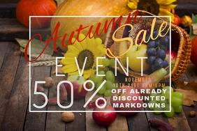 Autumn Sale Retail Harvest Discount Coupon Promo Produc