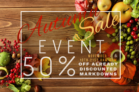 Autumn Sale Retail Harvest Fall Discount Apple Promo Food