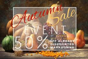 Autumn Sale Retail Harvest Fall Discount Coupon Promo Foliag