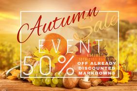 Autumn Sale Retail Harvest Fall Discount Pumpkin Promo Food