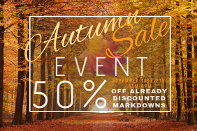 Autumn Sale Retail Harvest Trees Fall Discount Promo Foliage