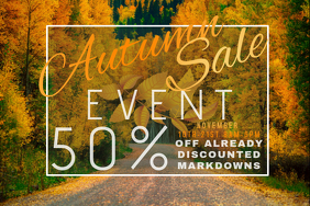 Autumn Sale Retail Harvest Trees Fall Leaves Promo Foliage