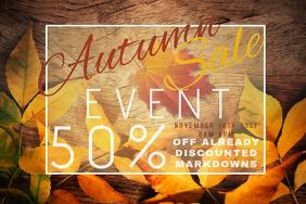 Autumn Sale Retail Wood Discount Coupon Promo Foliage