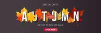 Autumn Sale Special Offer Banner Advertisemen template
