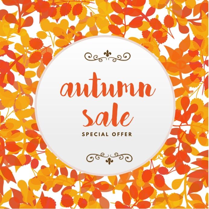 Autumn Sale Template Instagram Post